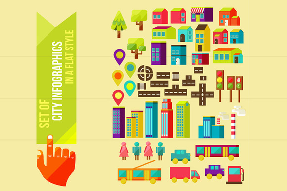 Set Of City Infographics