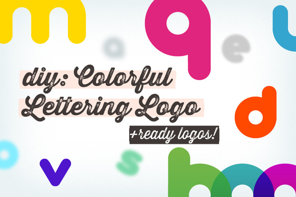 DIY Colorful Lettering Logo Samples