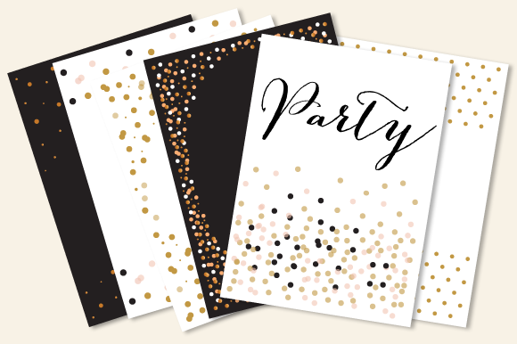 6 Party Templates In JPG And Vector