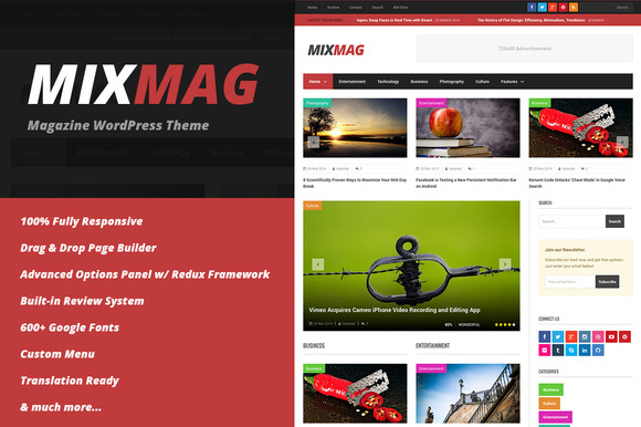 MixMag Magazine WordPress Theme