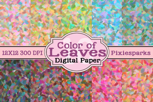 Color Of Leaves Digital Paper