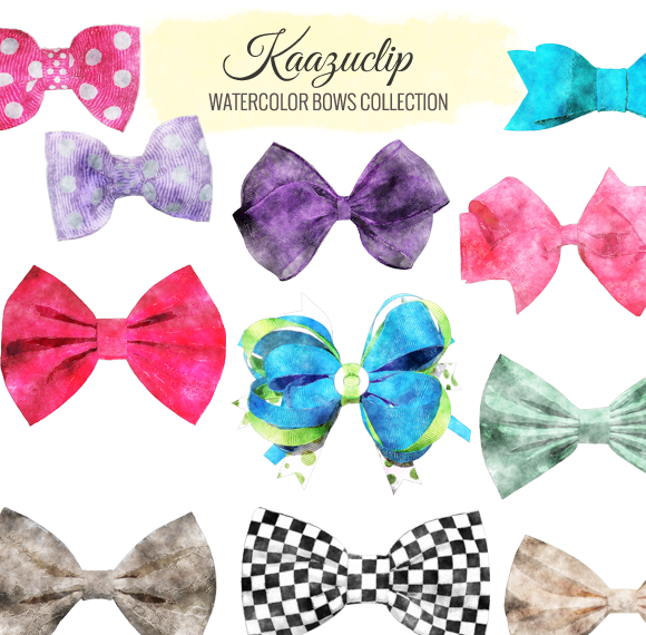 Watercolor Bow Collection