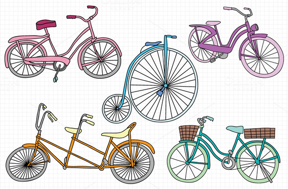 Vintage Bike Vector Art