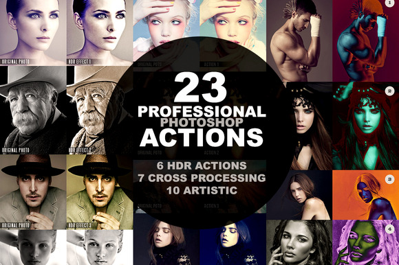 23 Professional Photoshop Actions