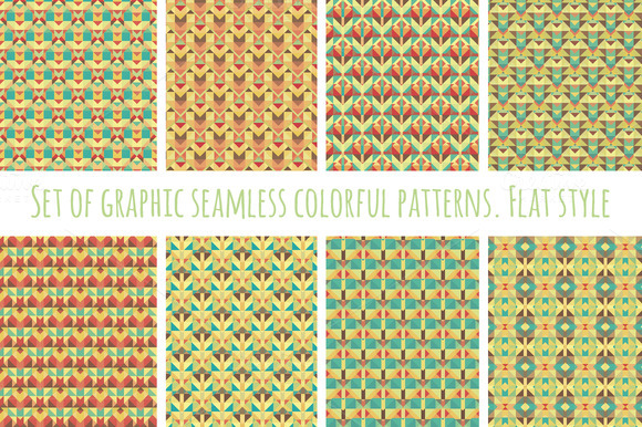 Set Of Seamless Colorful Patterns