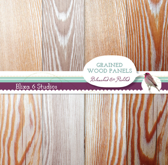 Natural Wood Grain Digital Textures