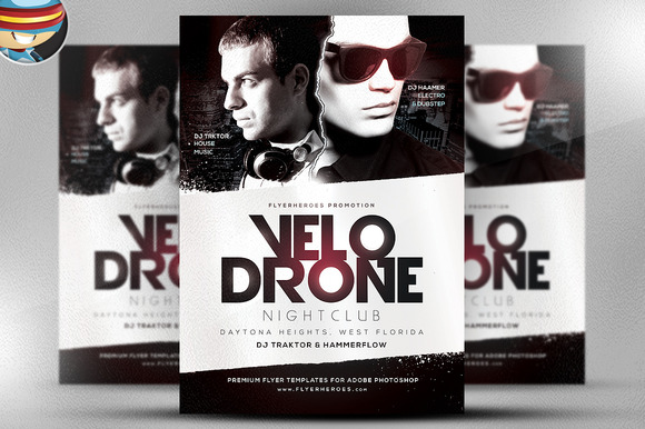 Velo Drone PSD Flyer Template