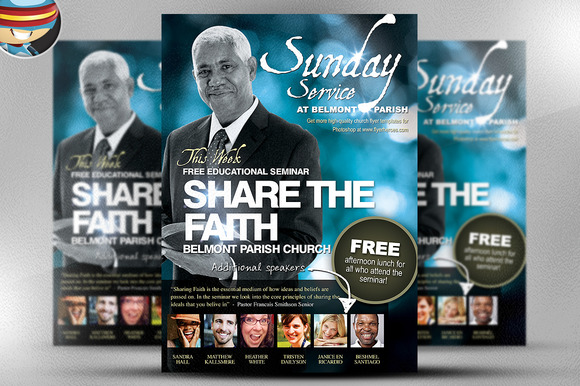 Share The Faith Church PSD Flyer