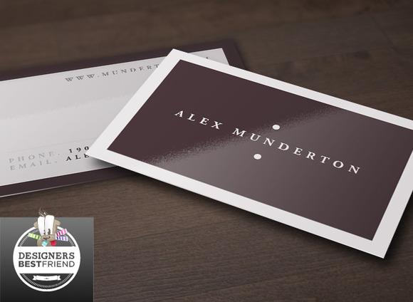 Clear Simple Business Cards