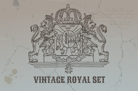 Vintage Royal Set Design Elements