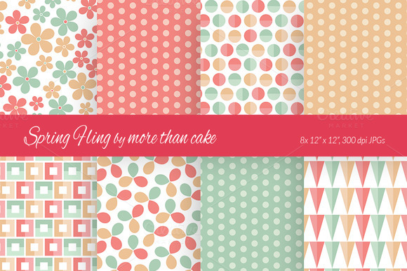 Spring Fling Digital Paper