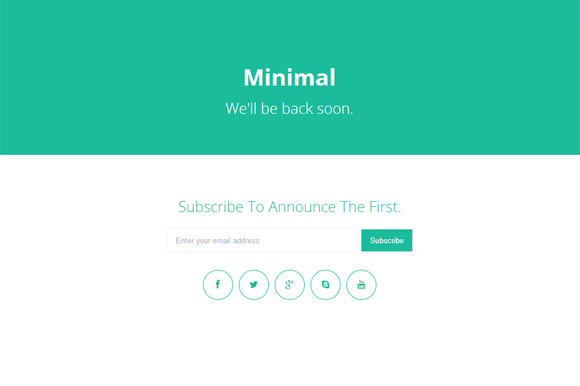 Minimal Coming Soon Page