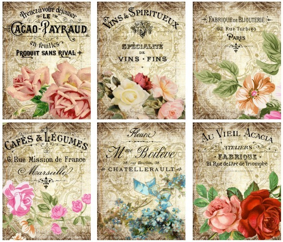 Floral Advertising Cards