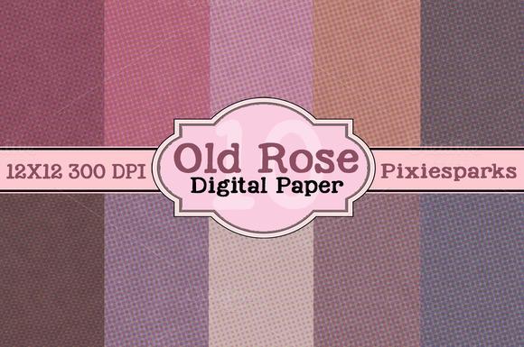 Old Rose Digital Paper