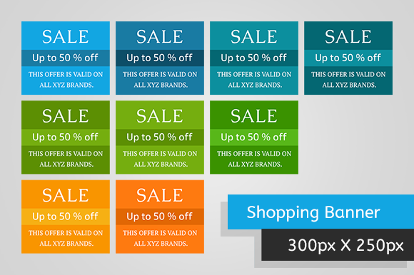 Shopping Banners 300x250 Set 1
