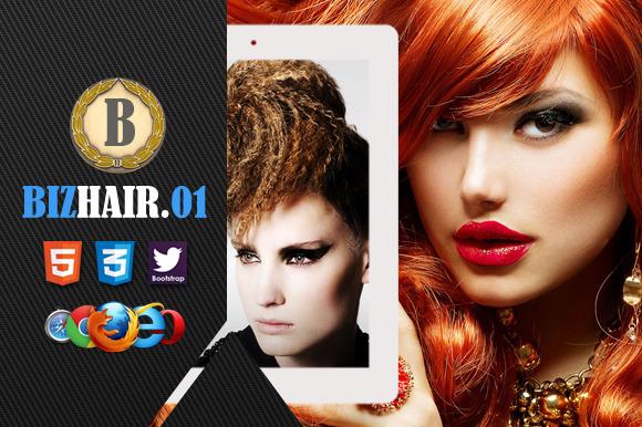 Biz Hair 01 Premium HTML5 Template