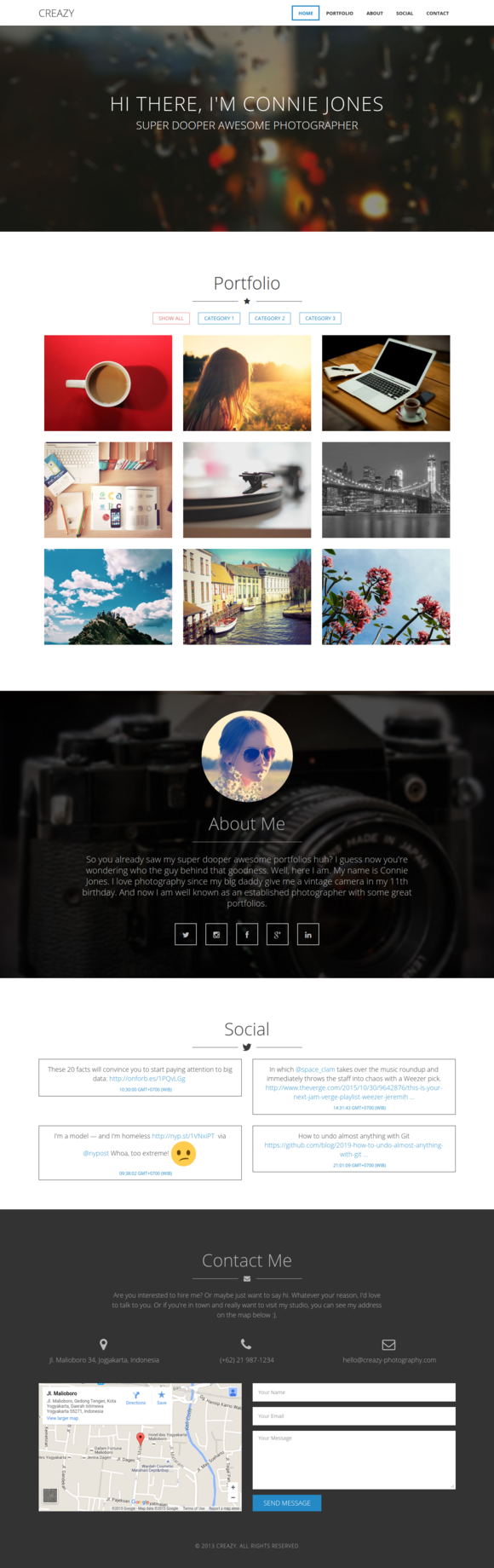 Creazy Responsive HTML Template