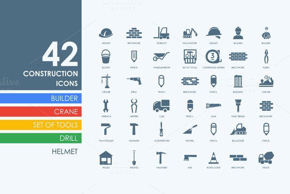42 Construction Icons