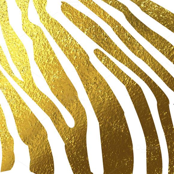 Texture Of Zebra Skin Gold