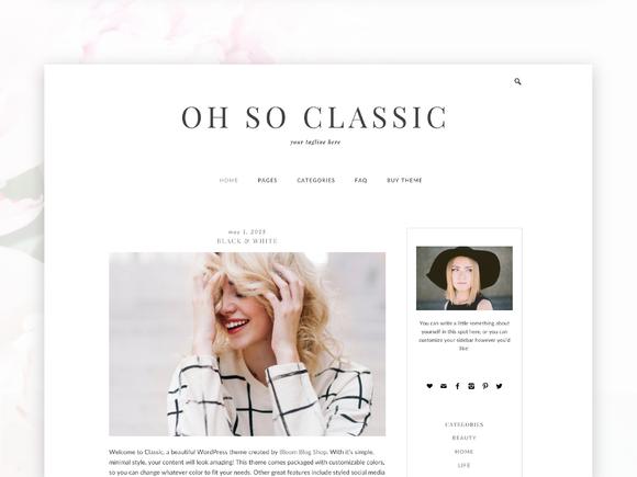 Classic- Responsive Wordpress Theme