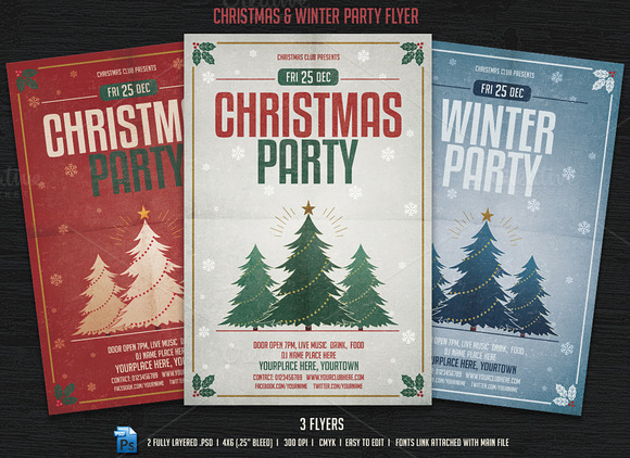 Christmas Winter Party Flyer