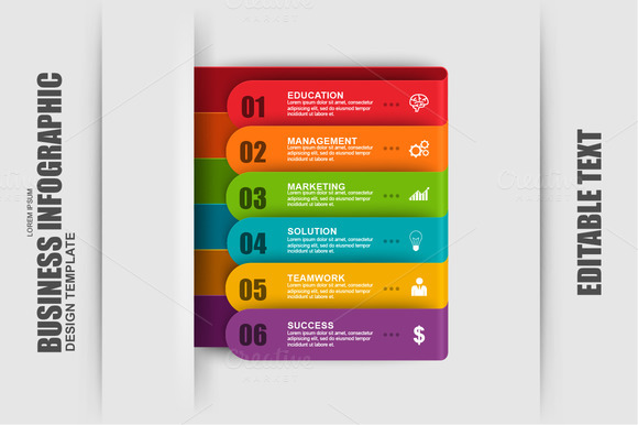 Business Infographic Ribbon Template