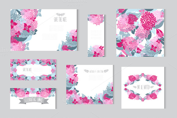 Hydrangea Floral Cards
