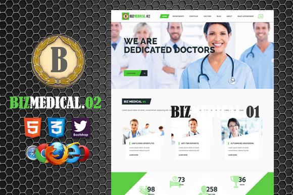 Biz Medical 2 Premium HTML5 Template
