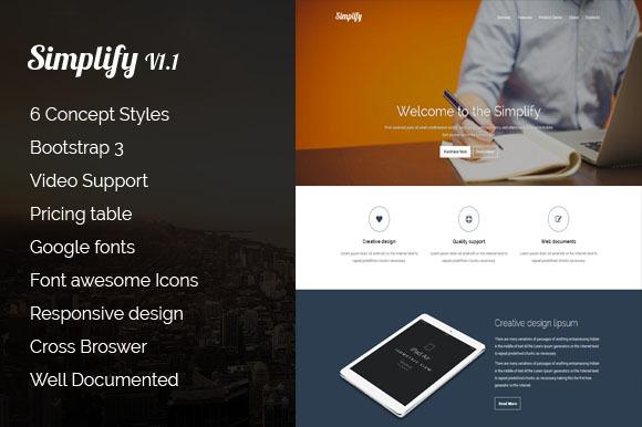 Simplify Responsive Landing Page