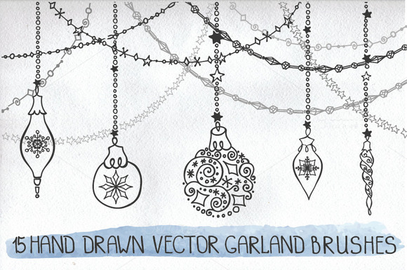 Christmas Hand Drawn Brushes 01