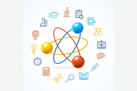 Science Concept And Outline Icon Set