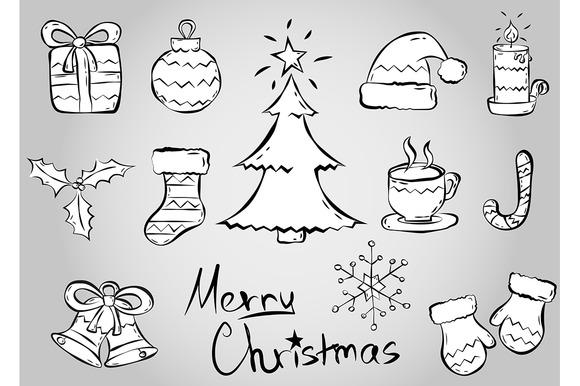 Merry Christmas Vector Set