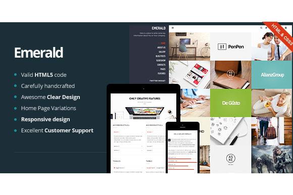 Emerald Creative Portfolio WP Theme