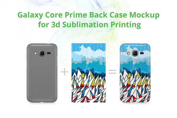 Galaxy Core Prime 3dCase Back Mockup