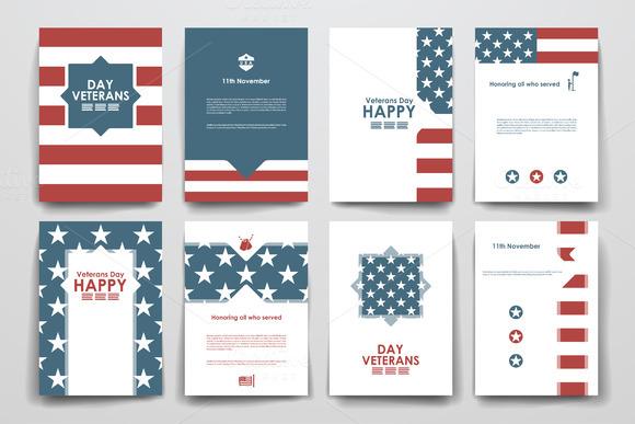 Veterans Day Brochure Templates