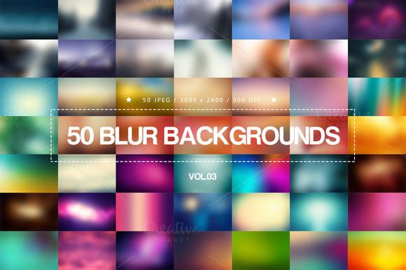 50 Blur Backgrounds Vol.03