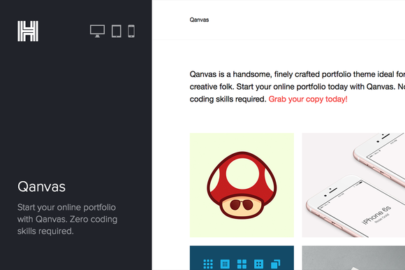 Qanvas Portfolio Wordpress Theme