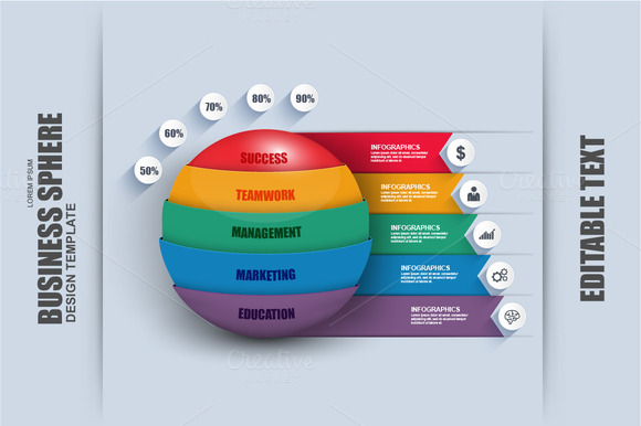 Business 3D Sphere Infographic