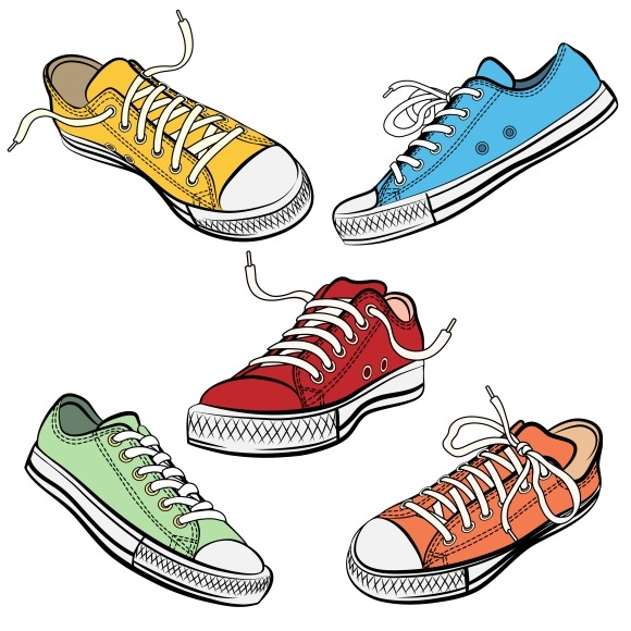 Sport Shoes Or Sneakers Icons