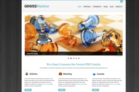 GrossMeister HTML Template