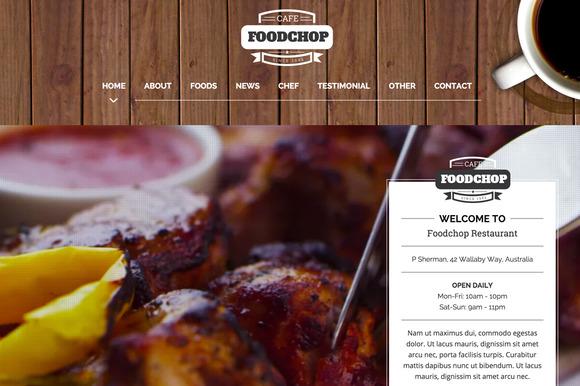 Foodchop HTML