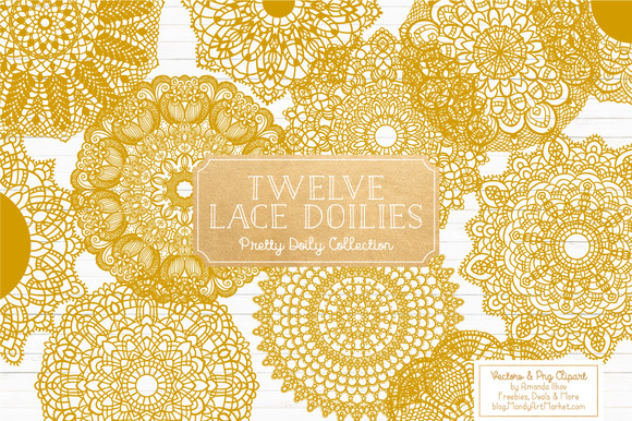 Mustard Yellow Lace Doilies