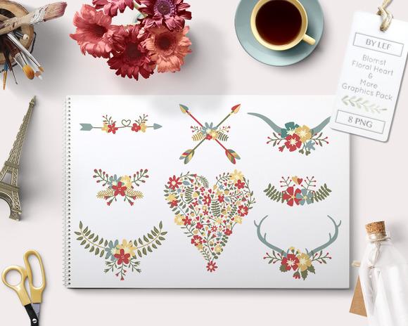 Flower Valentine Graphics Heart