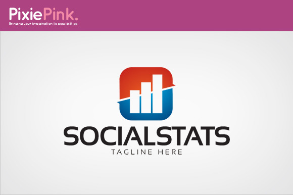 Social Stats Logo Template
