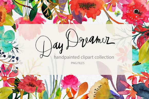 Handpainted Watercolor Flowers
