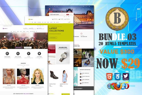 Bundle 3 20 Premium HTML5 Template