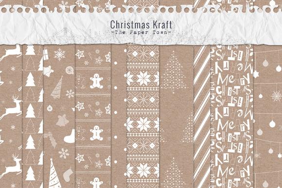 Christmas Kraft Digital Papers