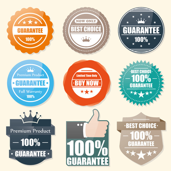 Badge Guarantee Best Choice Stamp