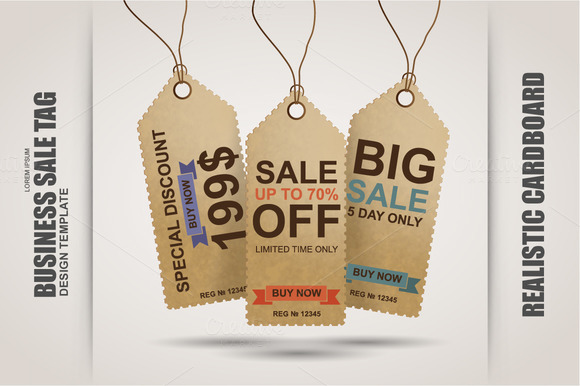Realistic Sale Tag Vector