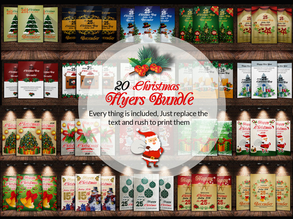 20 Christmas Flyer Bundle